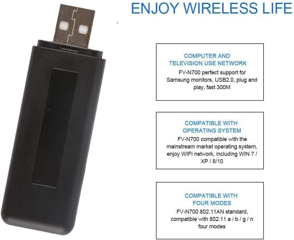 Velidy - Adaptador Wi-Fi inalámbrico para televisor USB, 802.11ac 2.4 GHz y 5 GHz de doble banda, USB WiFi adaptador para Samsung Smart TV WIS12ABGNX WIS09ABGN 300M: Amazon.es: Electrónica