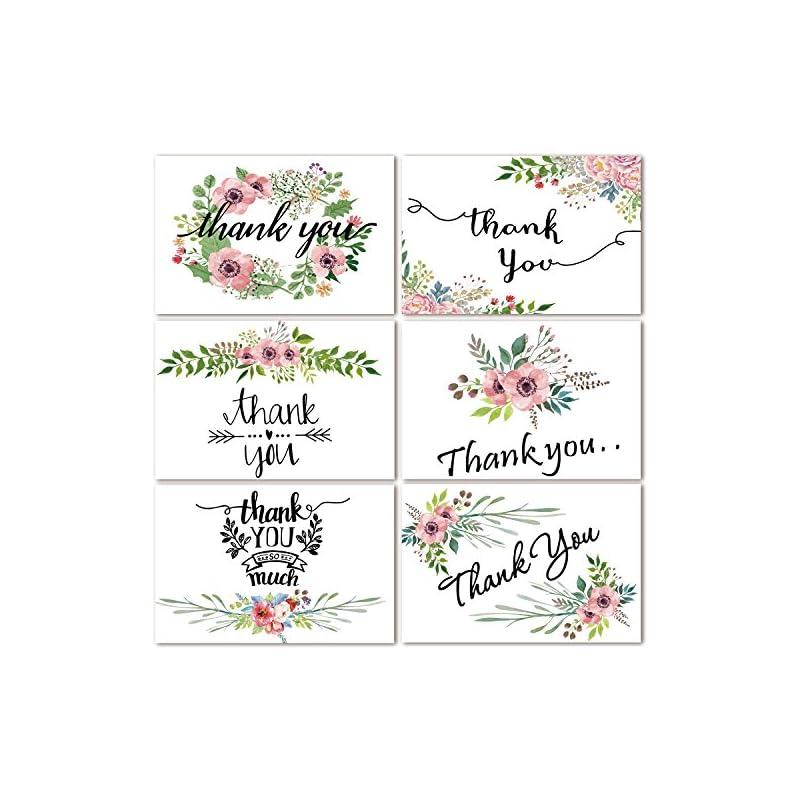 48 Bulk Thank You Cards Floral Flower Th