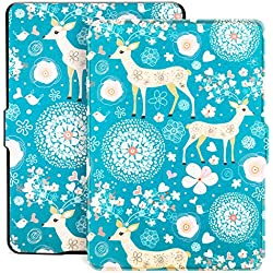 Ayotu Colorful Case for Kindle Paperwhite Auto Wake/Sleep Smart Protective Cover Case-Fits All Paperwhite Generations Prior to 2018(Not Fit All-New Kindle Paperwhite 10th Gen) K5-09 The Cervus Nippon