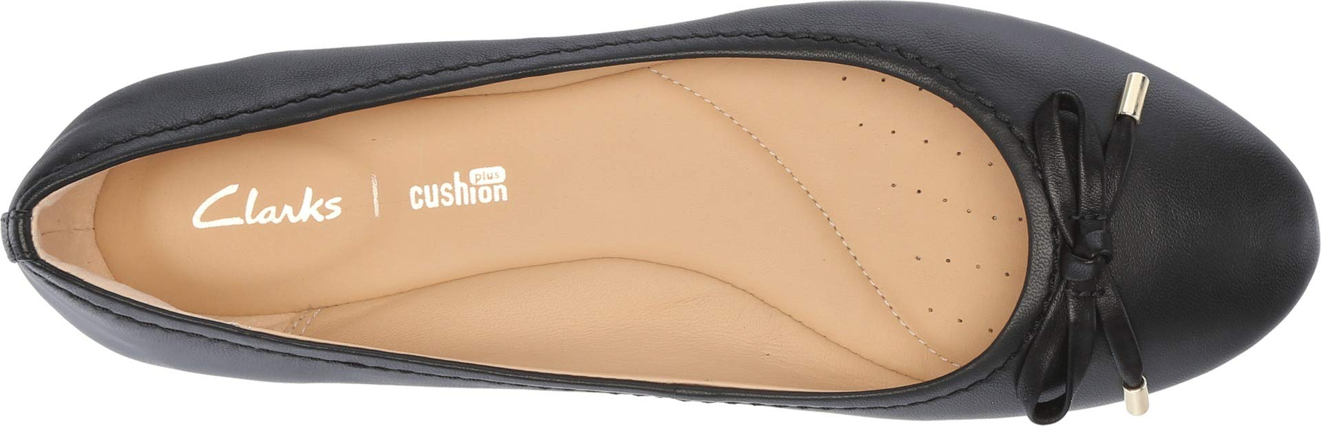 CLARKS Womens Grace Lily Ballet Flat, Black Leather, Size 7.5 by CLARKS (Image #2)