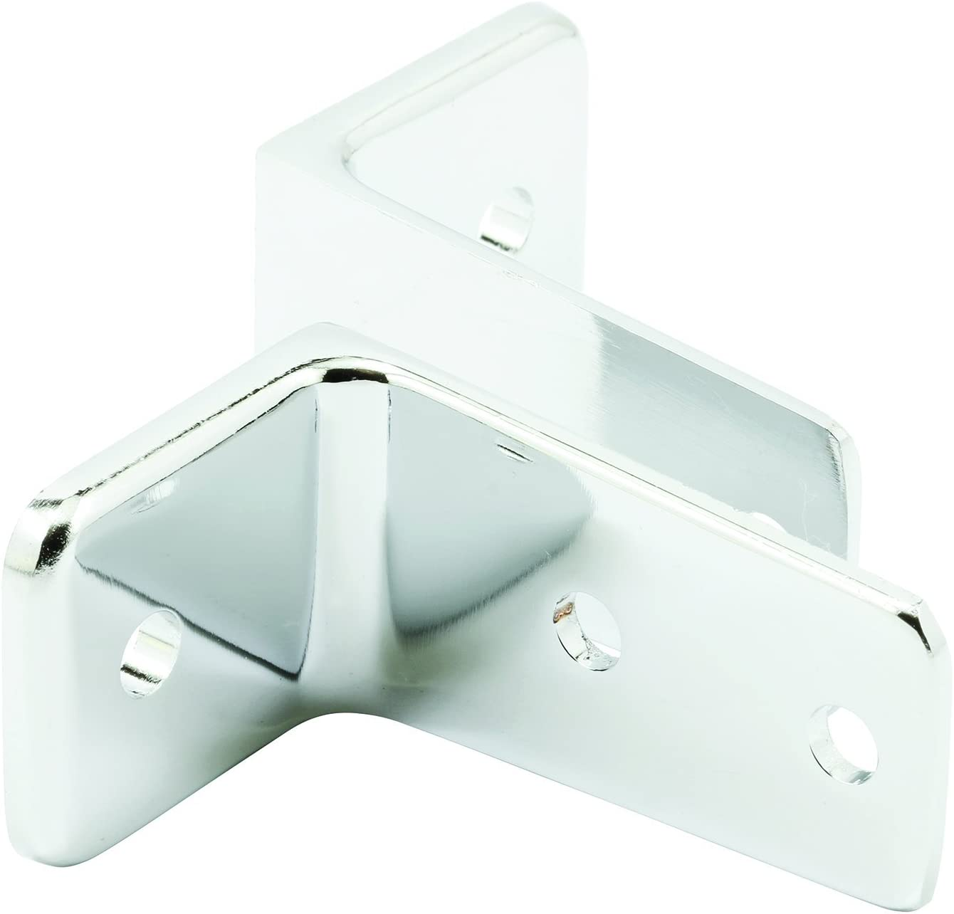 Sentry Supply 650-6437 Two Piece Wall Bracket, 2-1/2 inches in length, Double Hole, Chrome Plated Zamak, Pack of 2