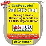 USA-Organic-Cotton-Nut-Milk-Bag-Read-our-Fake-Organic-Warning-Truly-all-100-Organic-Cotton-Undyed-Unbleached-Sewn-w-100-Organic-Cotton-Threads