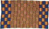 Fair Trade African Ghana Kente Cloth, 65'' Across Approximately, 7745