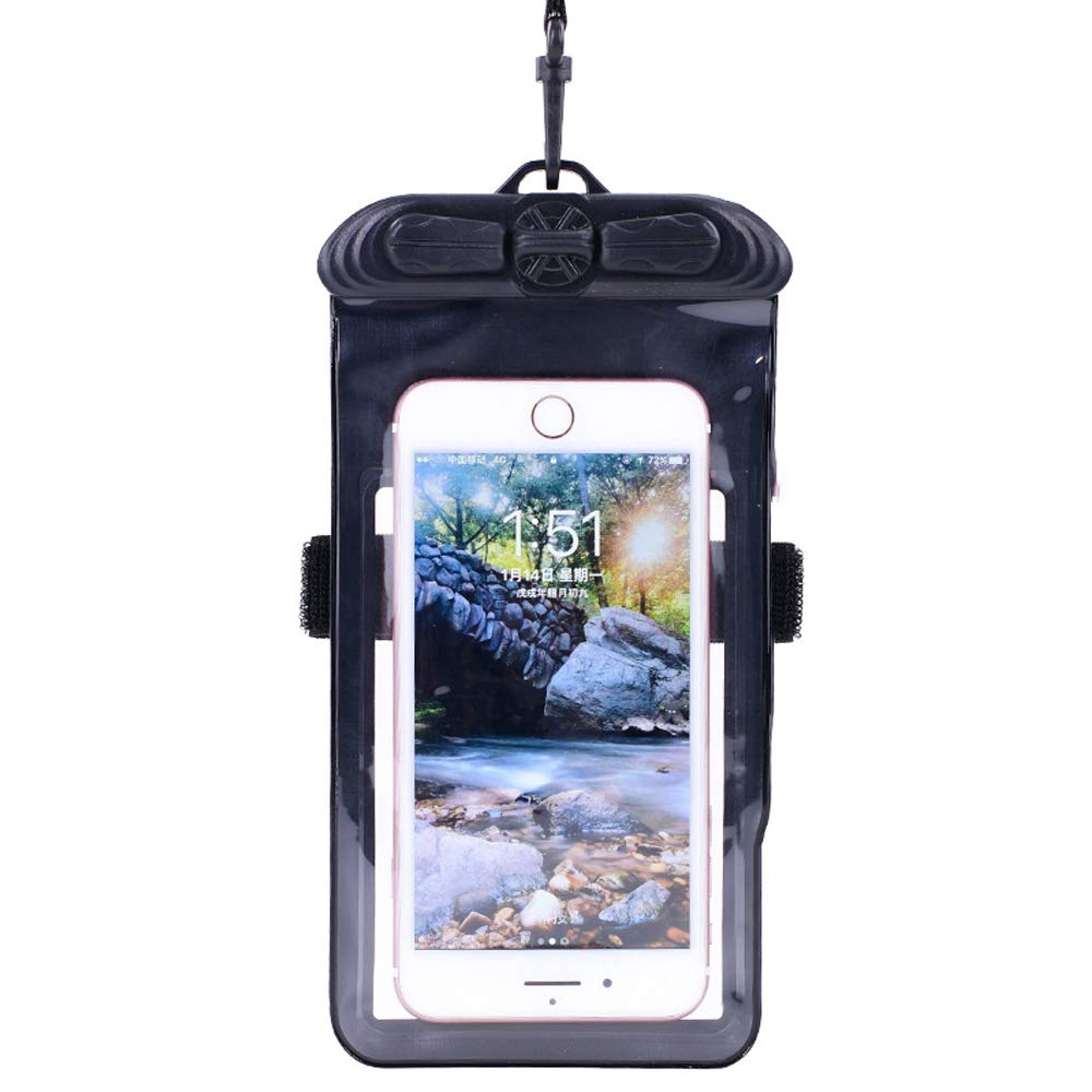 ALAX hot Spring Beach Outdoor Water Park Waterproof Suitable for 6.4 inch or Less Cover Transparent Touch Screen