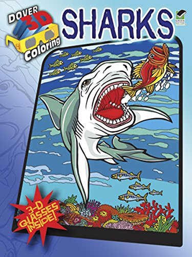 Dover Publications Sharks Coloring Book 3D (Dover 3-D Coloring Book)