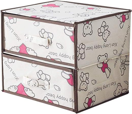 LDG Ropa Interior 2 Cajones Almacenamiento- Gabinete Multifuncional Caja Almacenamiento 30 * 30 * 30cm para Infantil (Color : C): Amazon.es: Hogar
