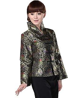 1279c468b JTC Women Top Chinese Top Womens Oriental Tunic Women Costume Jacket Coat  Long Sleeve Outer Clothing