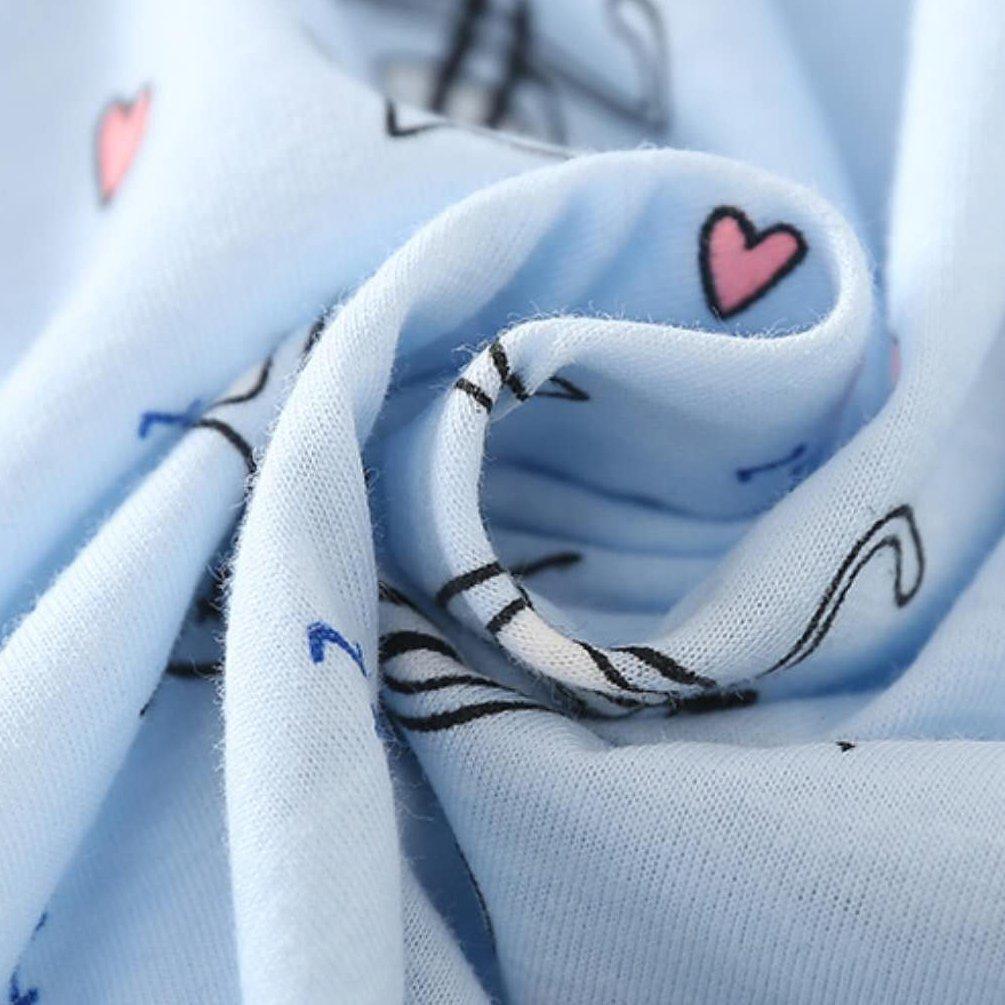 ENJOYNIGHT Womens\' Short Sleeve Nightgown Print Sleep Dress Cute Sleepwear (X-Large, Kitty)