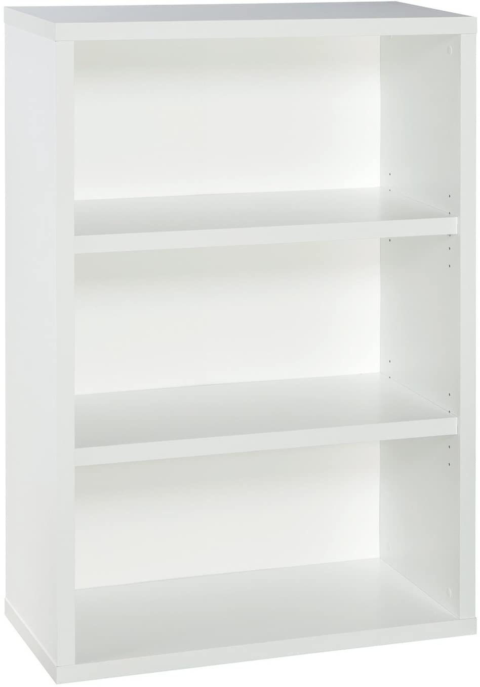 ClosetMaid 13502 Decorative 3-Shelf Premium Bookcase, White