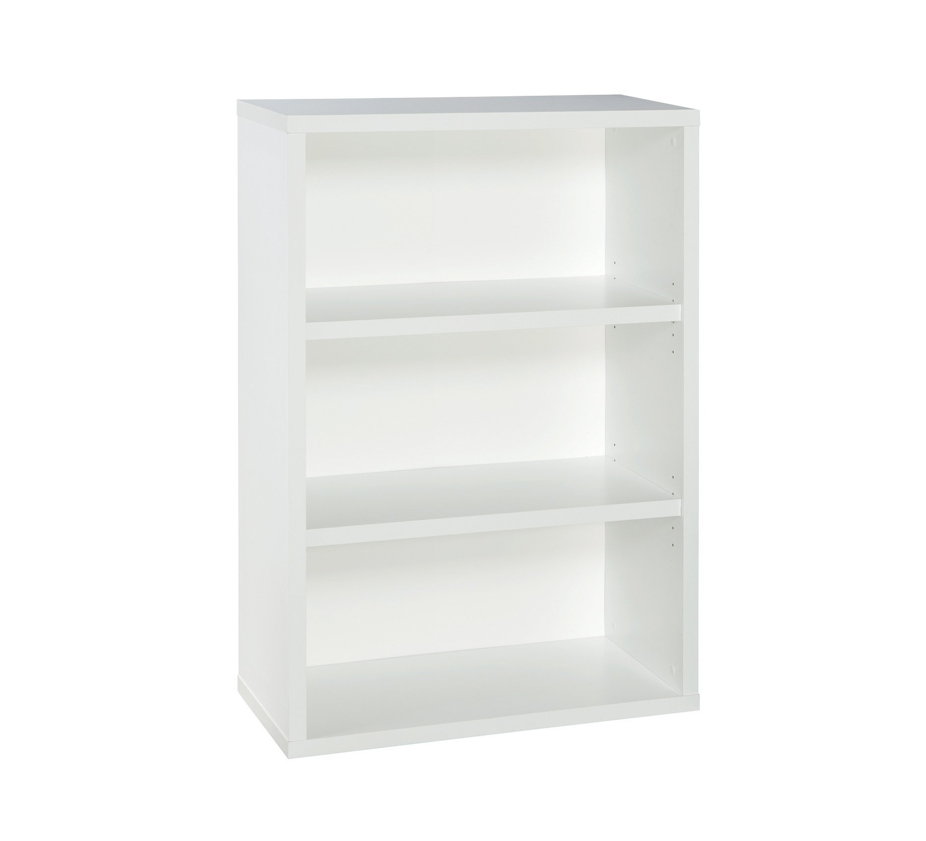 ClosetMaid 13502 Decorative 3-Shelf Premium Bookcase, White