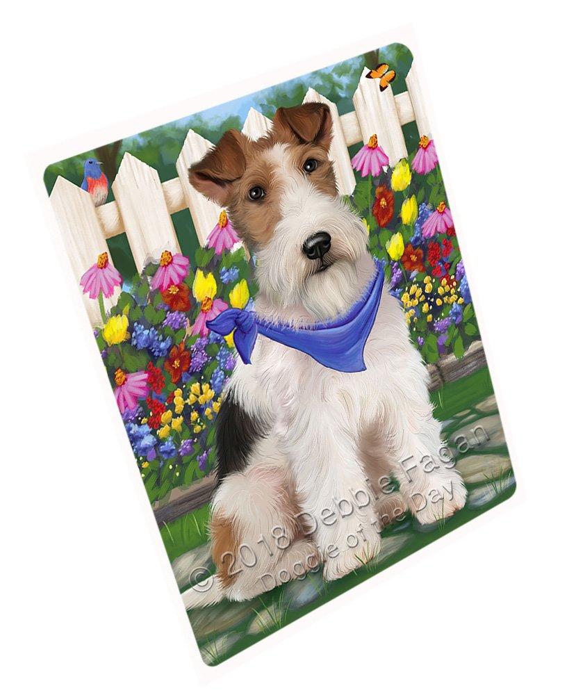 "Spring Floral Wire Hair Terrier Dog Large Refrigerator/Dishwasher Magnet RMAG73902 (18"" x 24"")"