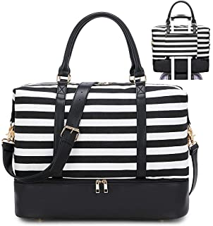 Bell Snow Travel Carry-on Luggage Weekender Bag Overnight Tote Flight Duffel In Trolley Handle