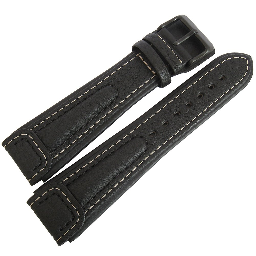 Di-Modell Chronissimo 22mm Black Leather PVD Buckle Watch Strap by Di-Modell