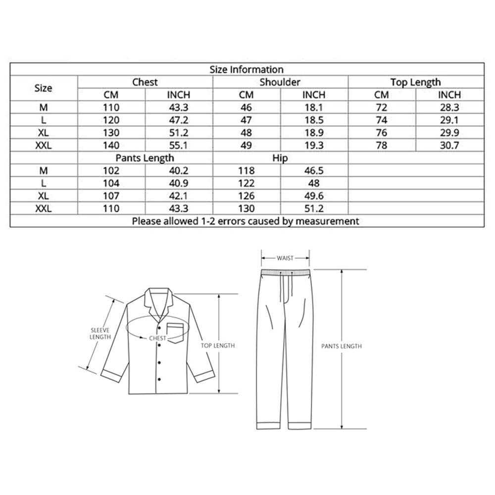Lonimor Men Three-Layer Quilted Padded Autumn Winter Pajamas Home Service Suit
