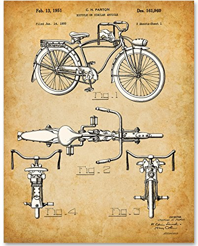Schwinn Bicycle - 11x14 Unframed Patent Print - Great Gift for Bicyclists and Outdoor Lovers