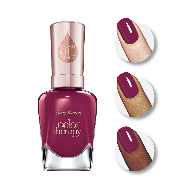 Amazon.com : Sally Hansen Color Therapy Nail Polish, Ohm My Magenta ...