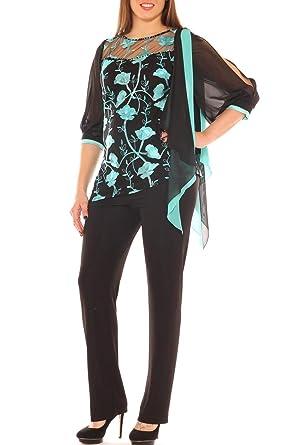 0362bc8527c23 Completo Donna da Cerimonia con Tunica Fantasia Taglia Morbida  Amazon.it   Abbigliamento