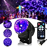 UV Black Light, SOLMORE LED Disco Ball Party Lights Strobe Light 3W Sound Activated DJ Lights Stage Lights for House Party Nightclub Karaoke Dance Wedding Birthday Bedroom Event(with Remote)