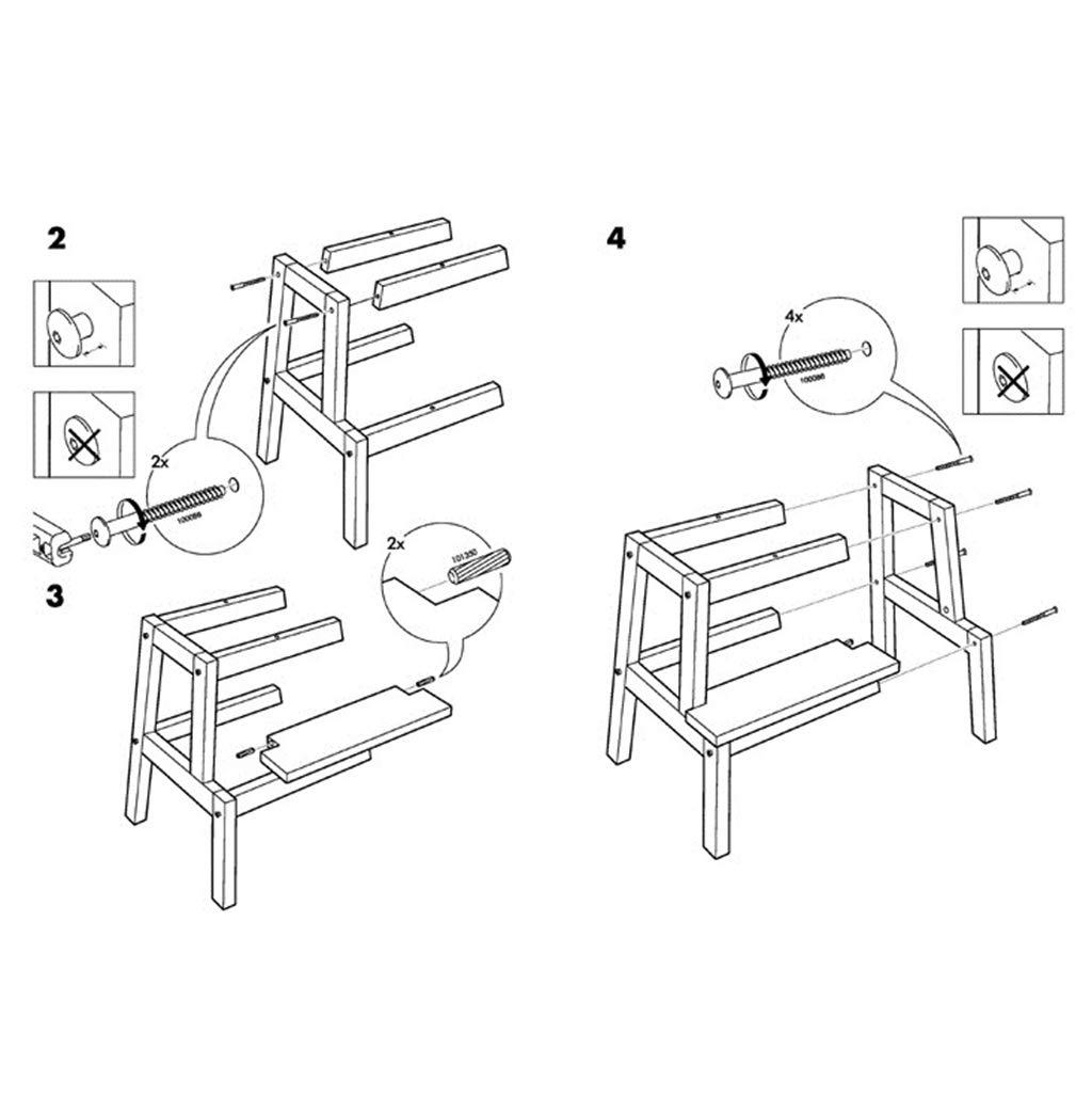 Trittleiter Kleine Fu/ßhocker Treppenstuhl Sitze Holzleiter Massivholz Dual-Use-Aufstieg Verbreitert Multifunktion Sicherheit Schuhbank Haushalt K/üche Indoor Ascend