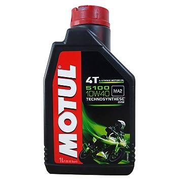 Motul 5100 - Aceite para motor de 4 tiempos (1 litro, 10W40): Amazon.es: Coche y moto