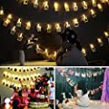 Neretva 20 LED Photo String Lights - Battery Operated Photo Clips Lights, Twinkle Fairy String Lights for LED String Lights Christmas Party Wedding Patio Lawn Garden Decorative Lights(Warm White)
