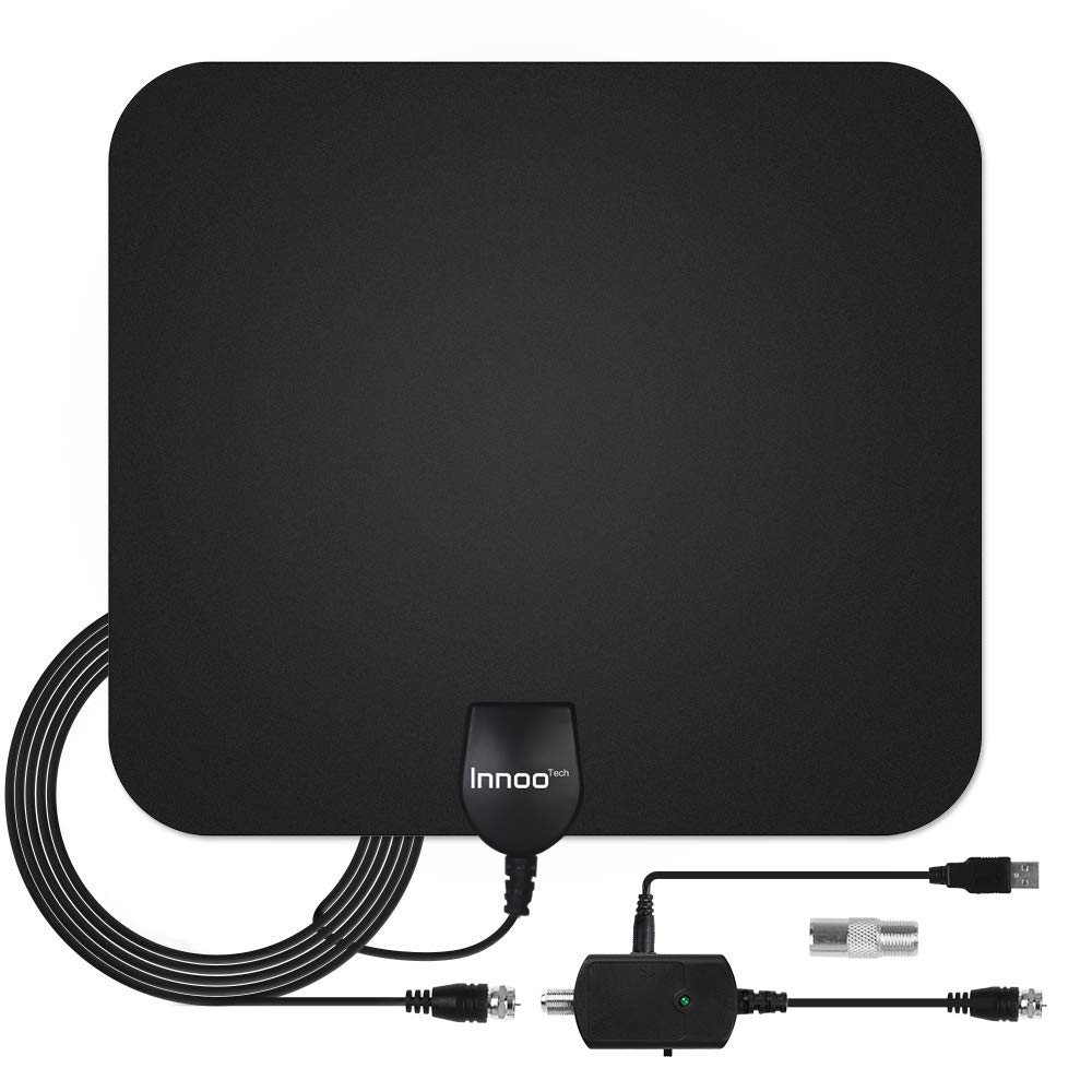 Innoo Tech TV Antenna  HDTV Antenna Support 4K 1080P 60120 Miles Range Digital Antenna for HDTV VHF