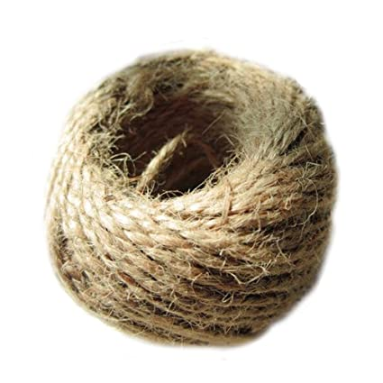 Brown : elans® 1 Roll 30m Jute Twine, Natural Thick Jute String 3Ply