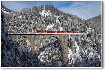 Amazon.com: Wiesen Viaducto entre Wiesen y filisur Suiza ...