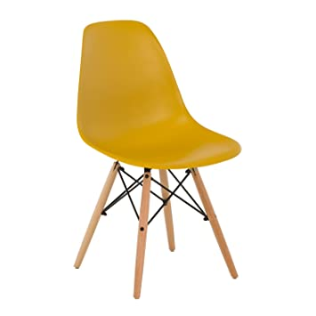 SKLUM Silla IMS Amarillo Curri Madera Natural - (Elige Color): Amazon.es: Hogar