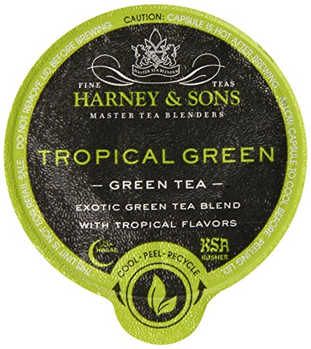 Harney and Sons Tropical Green Tea Capsules, 24 Count