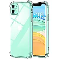 Babacom Coque pour iPhone 11, Etui de Protection Transparent Antichoc avec Quatre Coins Renforcés, Bumper Extrêmement Fin en TPU Souple Renforcé pour iPhone 11 (2019) 6,1 Pouces
