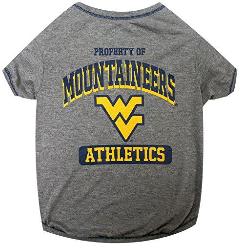 (NCAA WEST Virginia University Dog T-Shirt, Large)