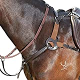 Kincade Leather Five Point Breastplate (Cob) (Brown)