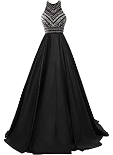 0f2d8e35ffca HEIMO Women's Sequins Evening Party Gowns Beading Formal Prom Dresses Long  H187