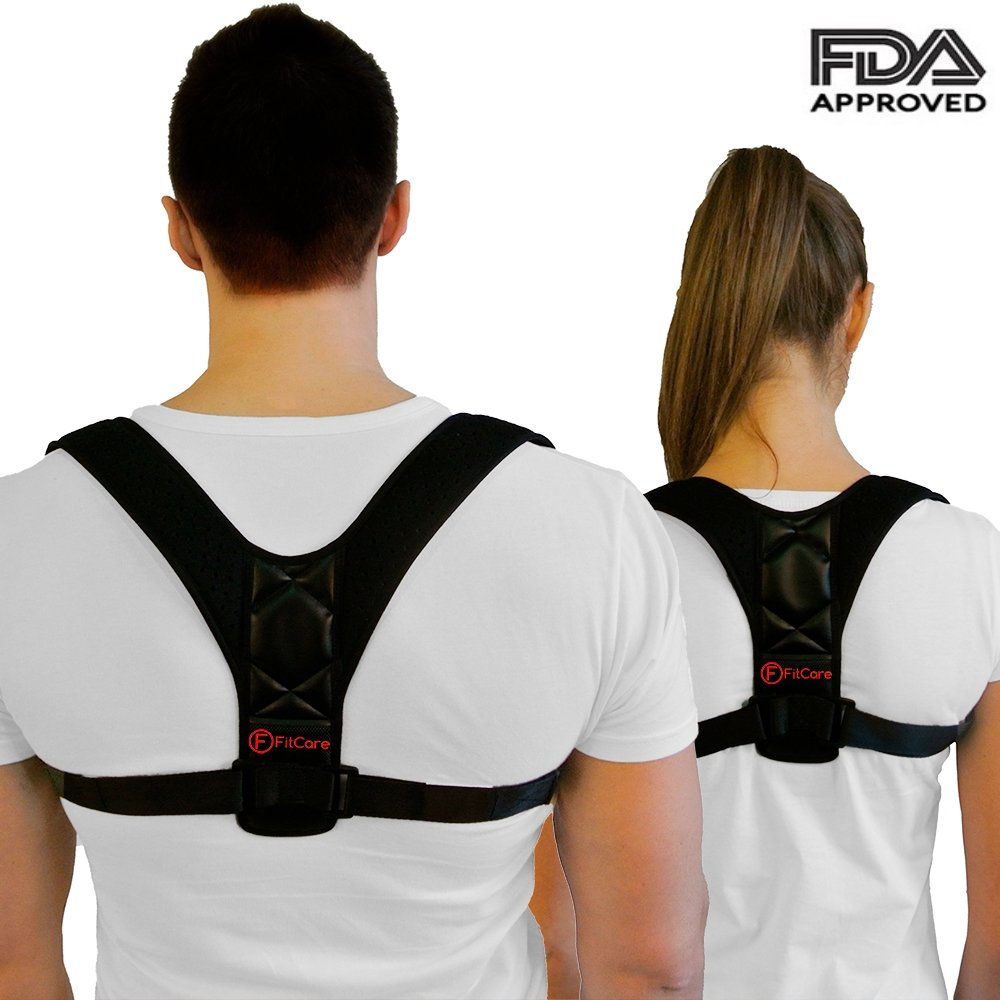 Amazon.com: Posture Corrector for Men \u0026 Women - Brace and Back Support Adjustable Clavicle Upper Pain Relief FDA APPROVED: Health
