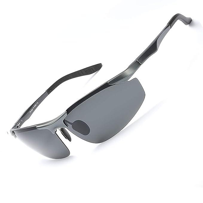 Hombre Deportivas Gafas de Sol Polarizadas -Conducen/Corren/Moto, 100% de