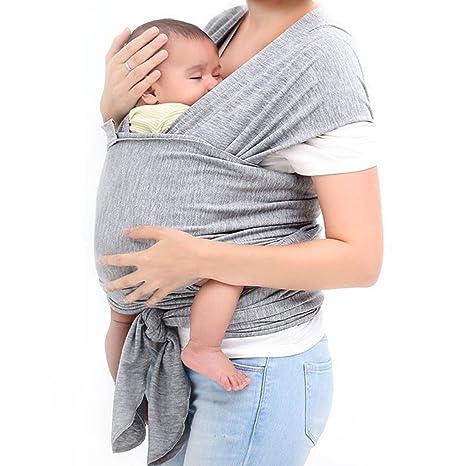 8f8f58d16510 Junecat Porte-bébé Sling Gigoteuse pour bébé en Coton Wrap Nouveau-nés  Hipseat Allaiter
