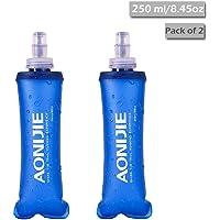 TRIWONDER Botellas de Agua correctas de TPU Soft BPA-Free a Prueba de Fugas para el Paquete de hidratación - Ideal para Correr Ciclismo de Senderismo