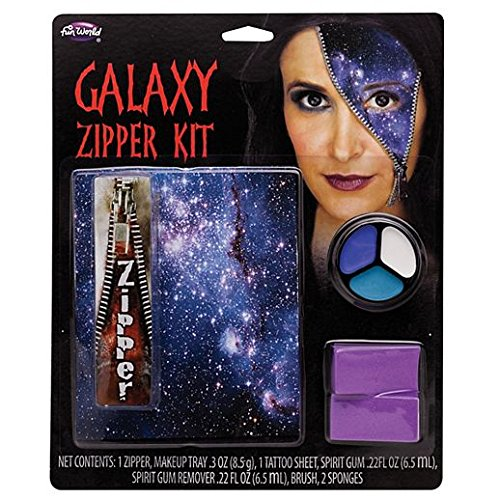 Fancy Face Paint Color Halloween Galaxy Zipper Appliance Kit
