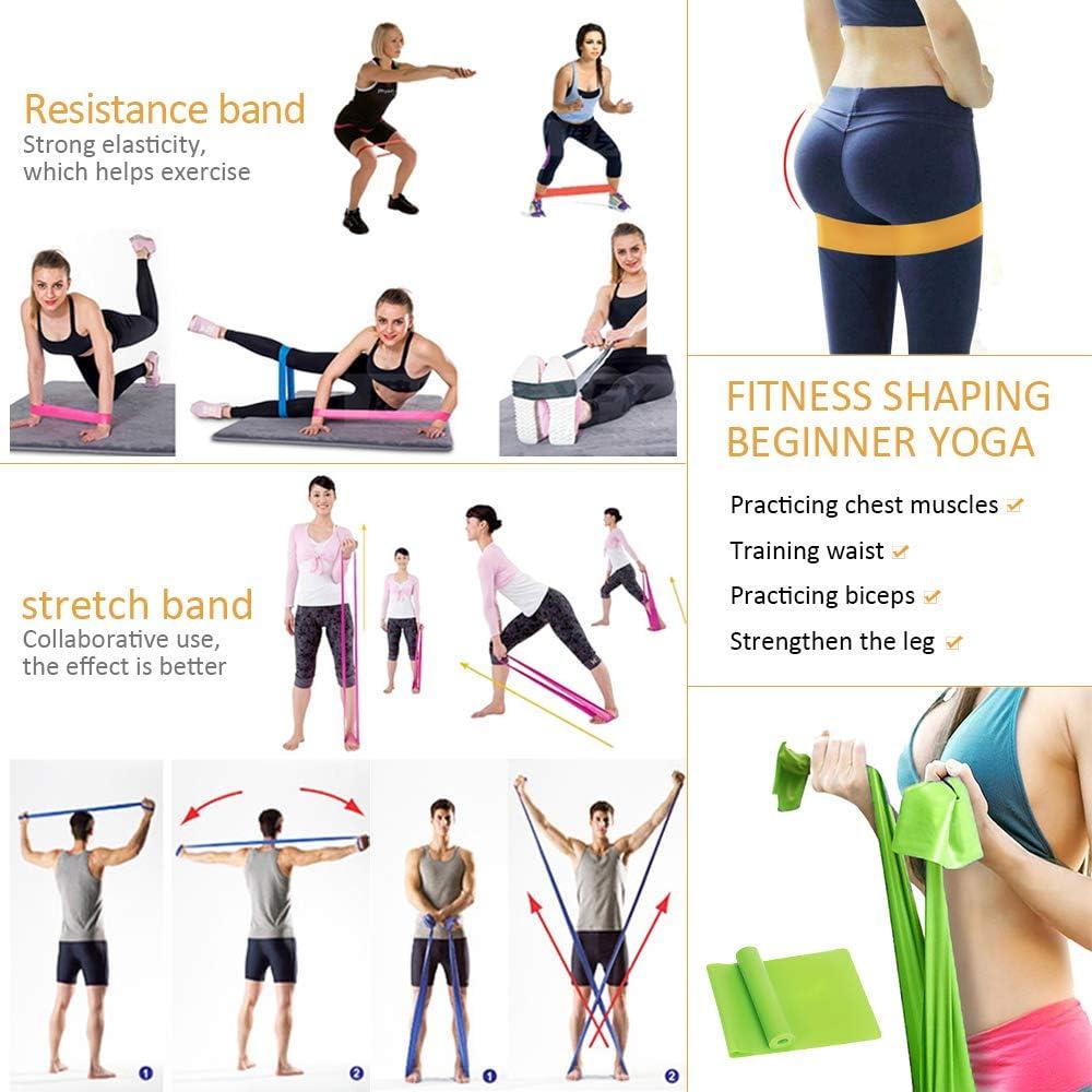 Amazon.com: DAZISEN Yoga Set Yoga Bloques Correa Cinturones ...