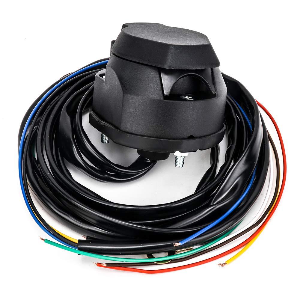 mit 1,5 m Kabel 12 V Europa Anh/ängerstecker PVC SmartSpec 7-polige Anh/ängersteckdose wasserdicht