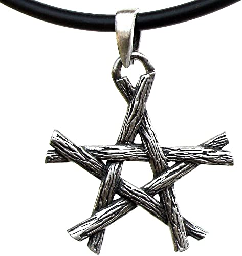 54G Silver PEWTER Gothic CROSS Pagan Wiccan PENDANT