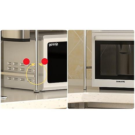 Cocina Microondas Horno Rack, acero inoxidable Rice Cooker Sola historia Horno Rack Spice Rack, L54 * W30 * H50cm (Size : L54*W30*H50cm) : Amazon.es: Hogar