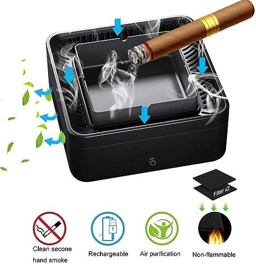 Marceooselm Cenicero sin Humo de Iones Negativos purificador de Aire con USB Recargable -Car/Interior/Exterior de Proteger la Salud de la Familia: Amazon.es: Hogar
