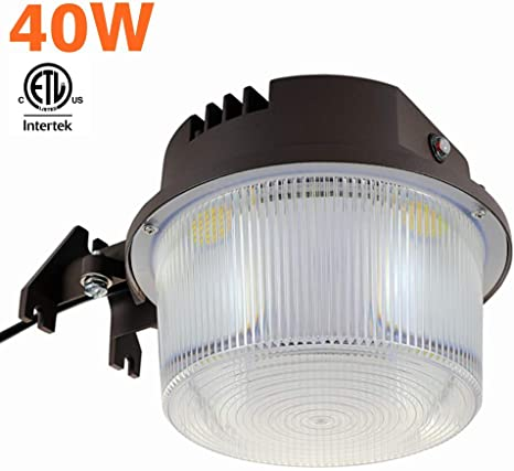 Shine Tech Led Security Area Light 40 Watts Barn Light Dusk To Dawn With Photocell Ultra Bright Yard Light 5500 Lumens 5000k 400w Incandescent