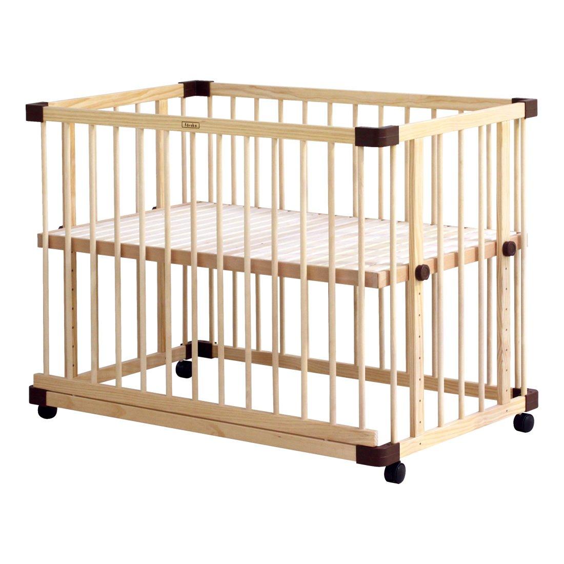 ファルスカ farska ベッドサイドベッド03 ベビーベッド ベビーサークル キッズベンチ   B01J7L23CK