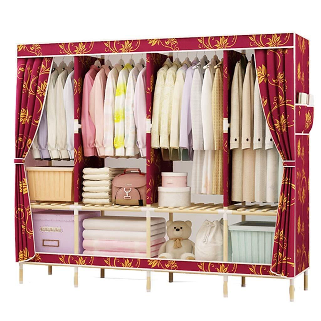 Qi Peng Penderie en Tissu penderie penderie Montage Armoire Armoire de Rangement Rangement vêtements portemanteau Garde-Robe (Couleur : A)