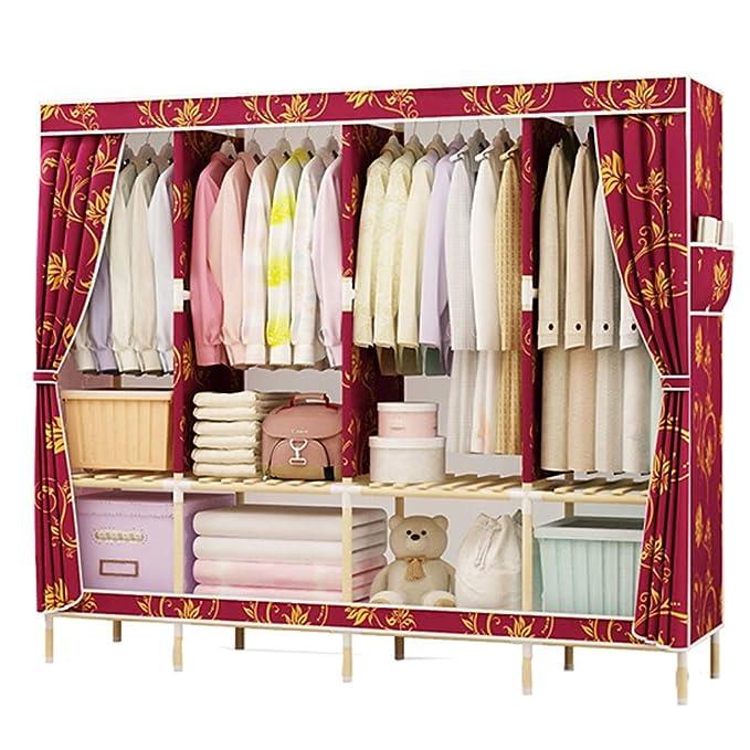 d488836b6a0f Amazon.com: Xiao Jian Cloth Closet Hanging Wardrobe Assembly Cabinet ...