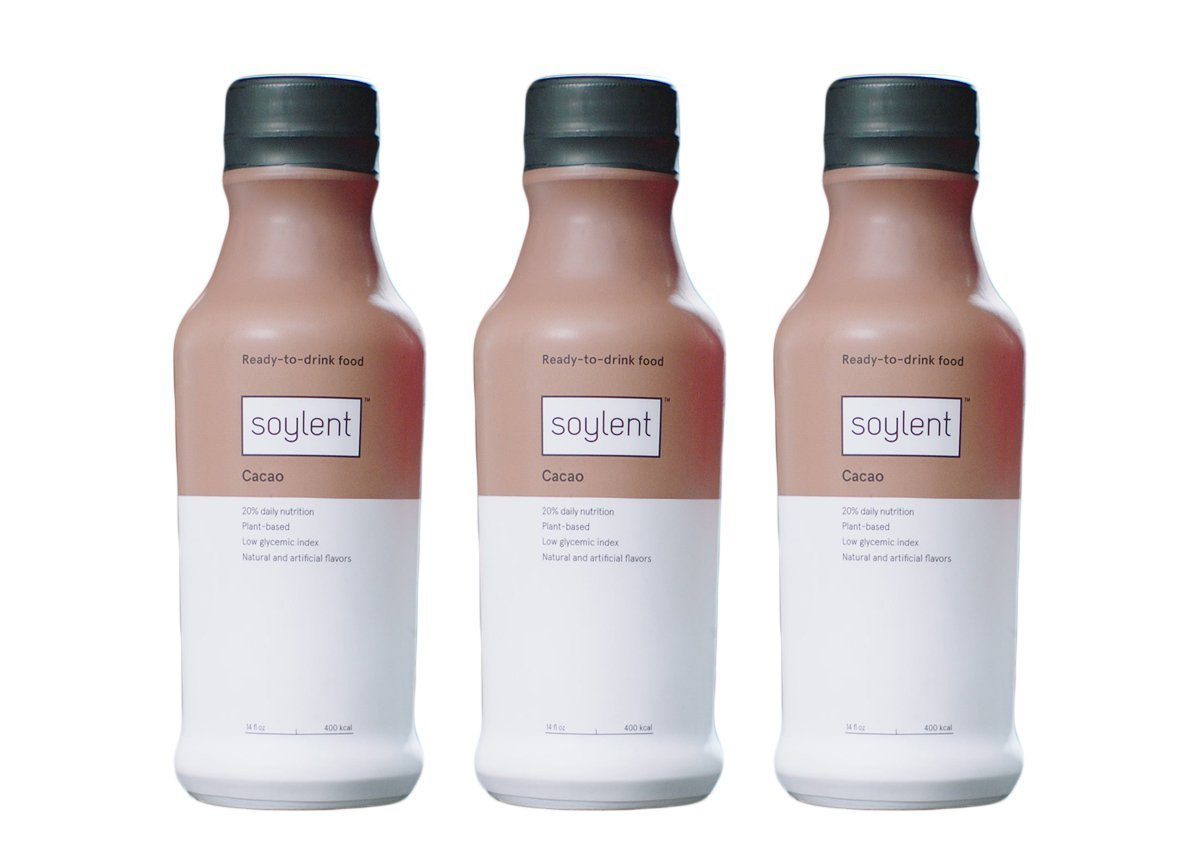 Soylent Cacao, Ready To Drink Breakfast in a Bottle, Nutritionally Complete Meal Replacement Beverage, 14 oz, 3 Pack