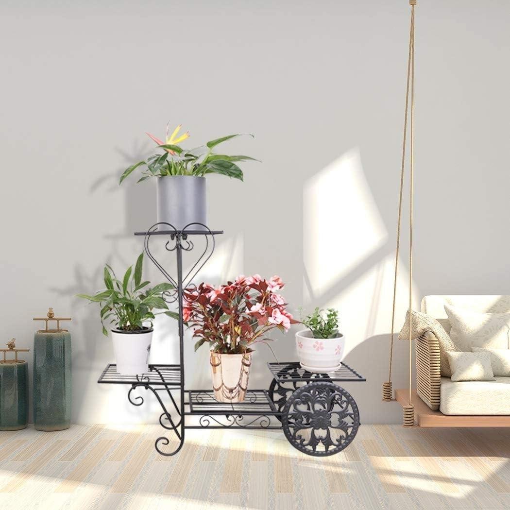 Ggoddess 6 Tier Metall Pflanzenständer Indoor Outdoor